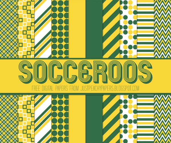 Free soccer digital paper