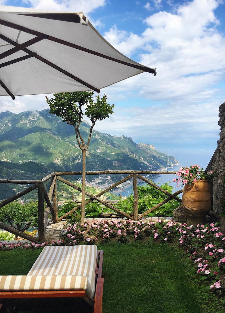 vue magnifique depuis une terrasse