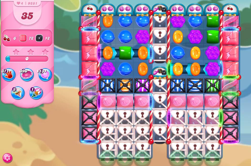 Candy Crush Saga level 9281