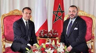 برقية تهنئة إلى الملك محمد السادس نصره الله  من الرئيس الفرنسي بمناسبة عيد العرش المجيد