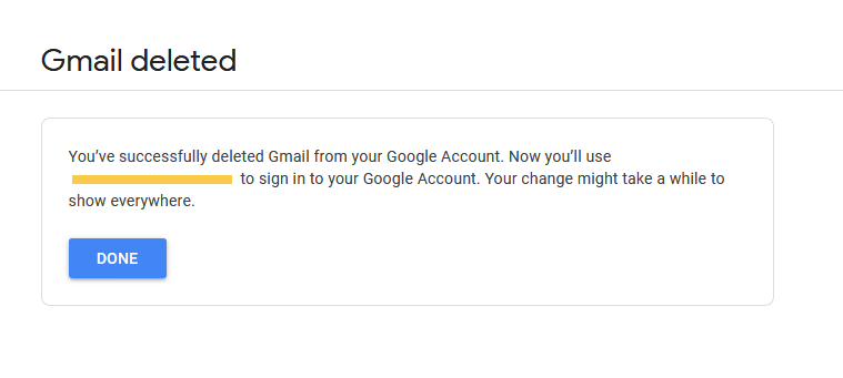 Gmail deleted - Thanalysis