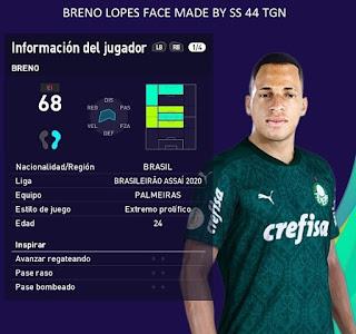 PES 2021 Faces Breno Lopes by SS 44