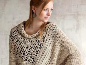 Poncho crochet mujer