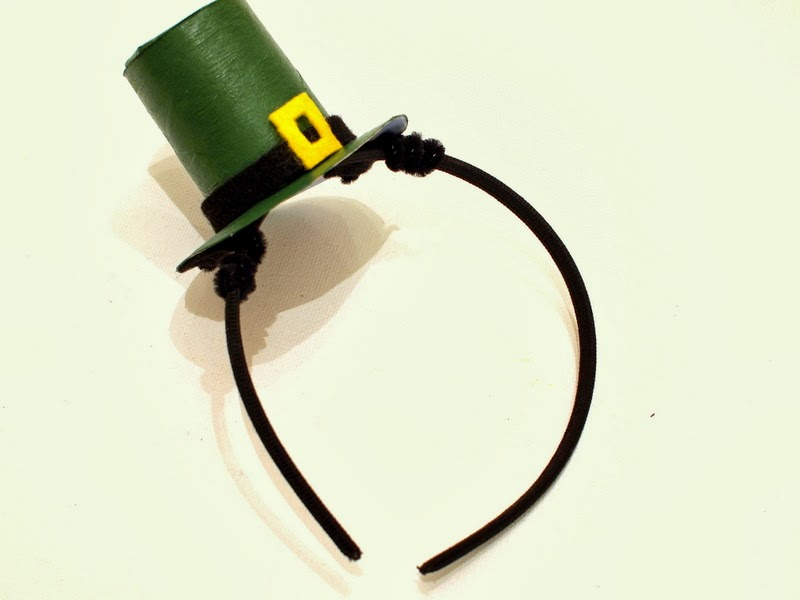 DIY leprechaun hat headband for St. Patrick's Day