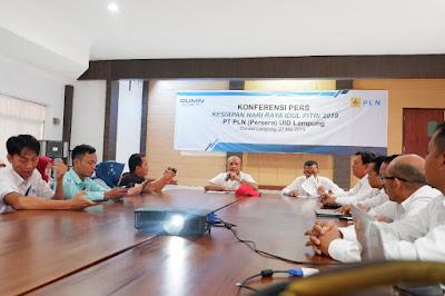 Kondisi Kelistrikan Lampung Dipastikan Aman Selama Hari Raya