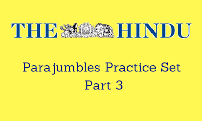 Parajumbles Practice Set From The Hindu: Part 3