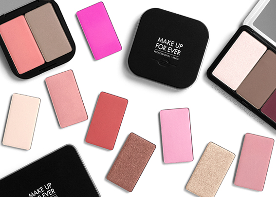 Make Up For Ever MUFE Artist Face Color Powders Blush Sculpting Highlighter Review Photos Swatches