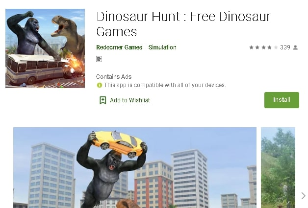download dinosaur games for android