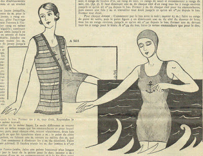 The Vintage Pattern Files: 1930s Free Knitting Pattern - French Bathing Suit