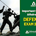 Important Current Affairs for Defence Exam 2020