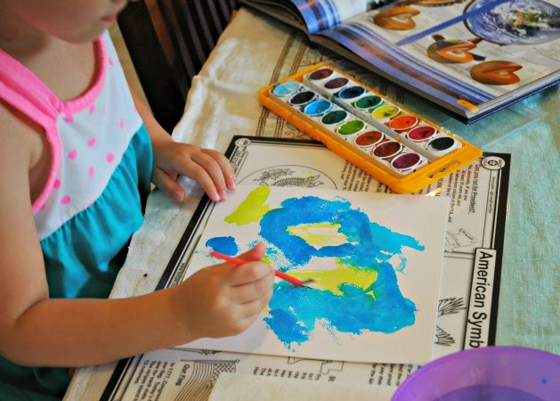 painting watercolor earth for space theme
