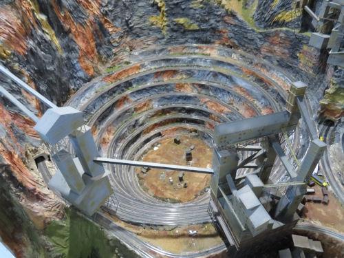 Northlandz model railroad spiral