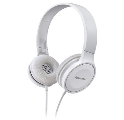 Panasonic On Ear Stereo Headphones RP-HF100ME-W
