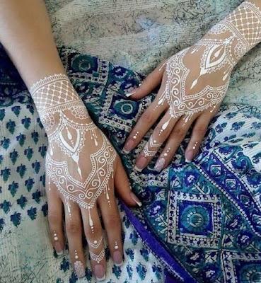 henna simple putih