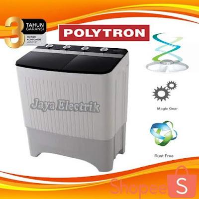Mesin cuci Polytron 2 tabung dengan seri 8358