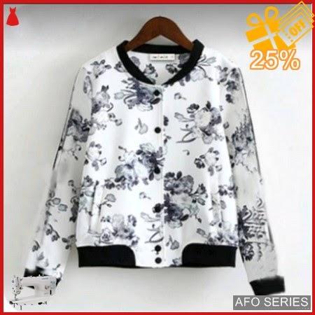 AFO002 Model Fashion Jaket White Flow Modis Murah BMGShop