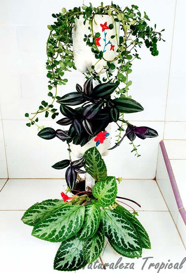 Mini-fuente de jardín terminada y lista para decorar