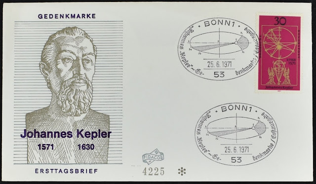 West Germany 1971 Johann Kepler Astronomer FDC First Day Cover