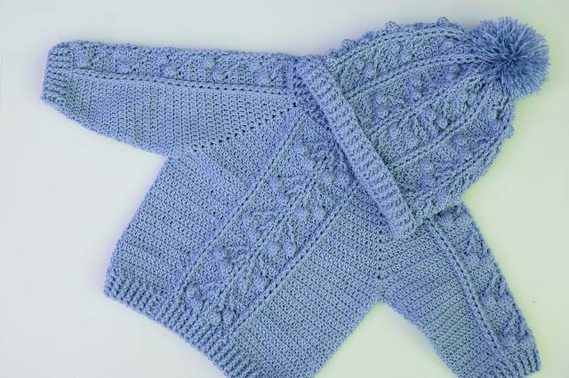 3-Crochet Imagen Gorro a conjunto con jarsey a crochet y ganchillo por Majovel Crochet
