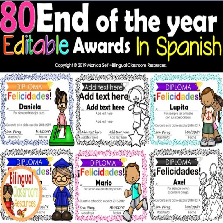 These editable end of the year awards are the perfect way to celebrate the unique traits of each of your students!