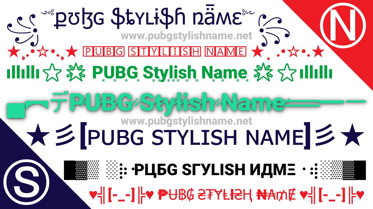 Pubg Stylish Name