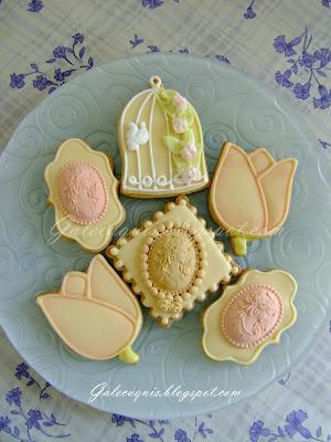 galletas camafeos, jaula de pájaros