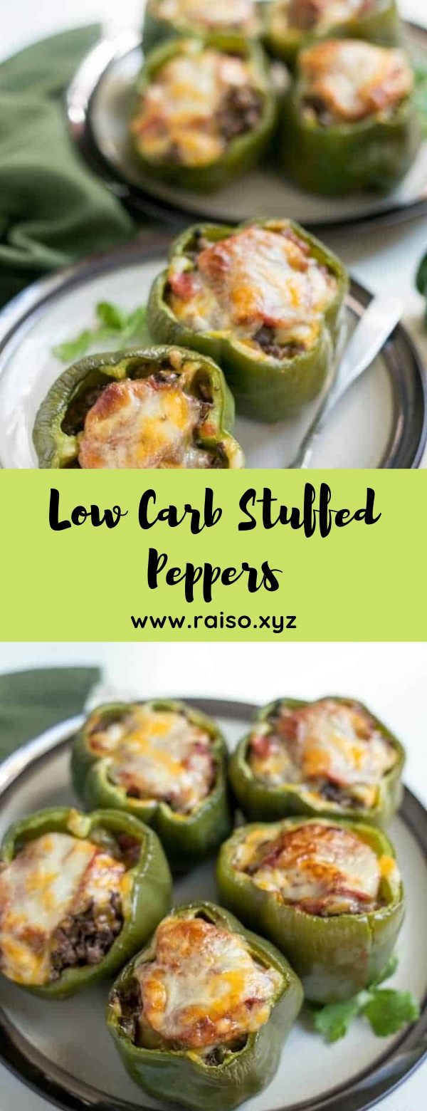 Low Carb Stuffed Peppers #lowcarb #keto #maincourse