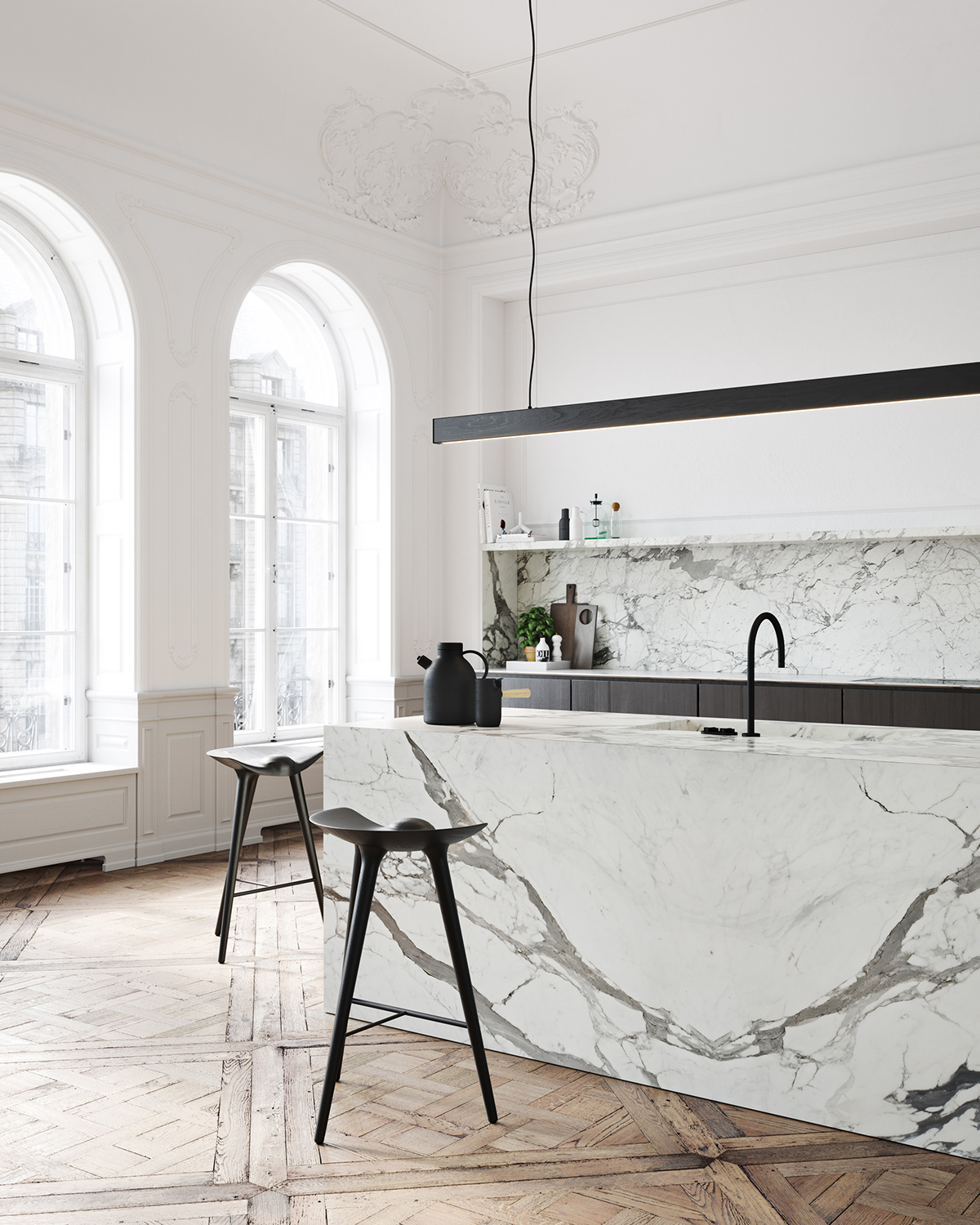 Décor Inspiration: Beautiful Renderings of a Classical Apartment