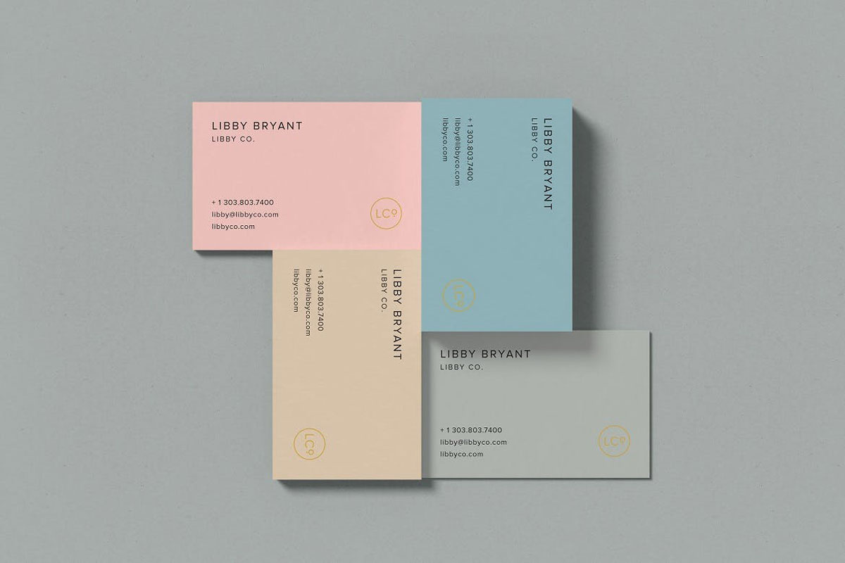 Top view Combined Business Card Mockup c