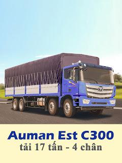 xe tải thaco auman est c300 4 chân tải 17 tấn thùng 9,5 mét