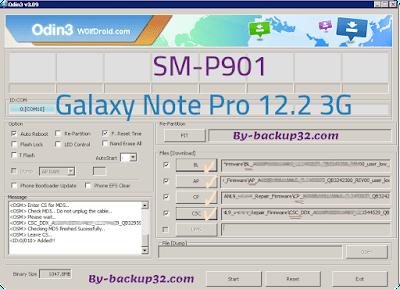 سوفت وير هاتف Galaxy Note Pro 12.2 3G موديل SM-P901 روم الاصلاح 4 ملفات تحميل مباشر