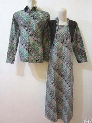 baju couple batik lengan panjang terbaru