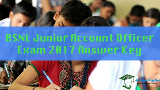 {Download} BSNL JAO Answer Key 2017 - Junior Account Officer Exam 05 Nov 2017