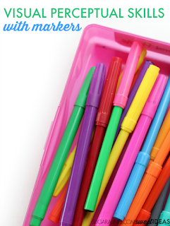 5 easy ways to work on visual perceptual skills with markers.