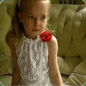 Blusa de Niña a dos agujas