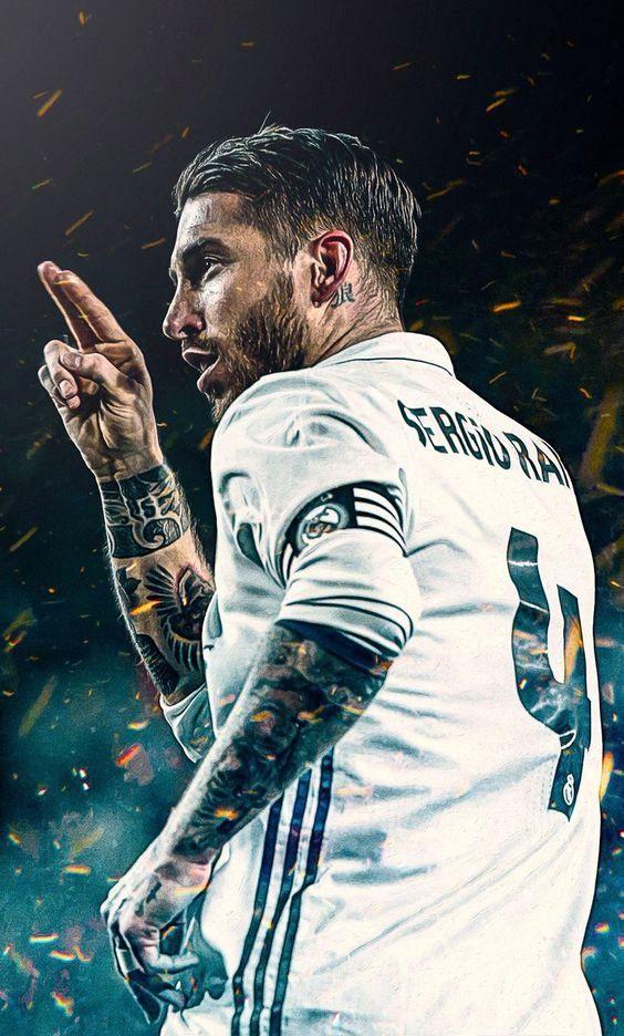 gaya rambut Sergio Ramos pemain sepak bola real madrid