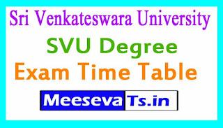 Sri Venkateswara University SVU Degree Exam Time Table Download 2017