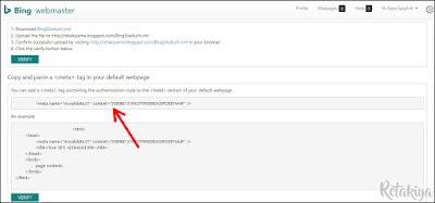 cara daftar blog ke bing webmaster tools