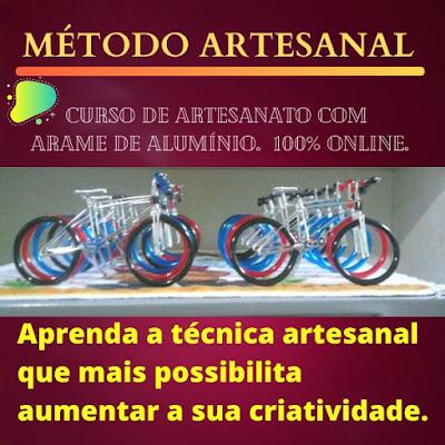 Curso Online Técnica Artesanal Com Arame de Alumínio - Curso Livre Viver de Artesanato