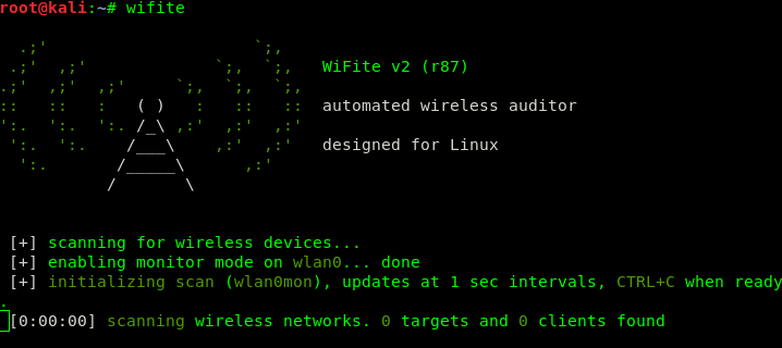 Wifite -- Easy Automated Wireless Auditing | Kali Linux