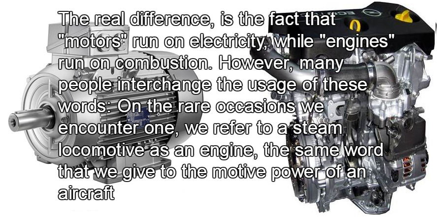 Difference between Motor and Engine  Electrical Blog