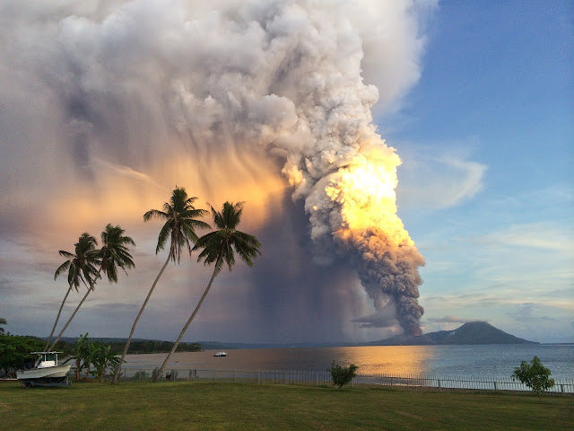 Mount Tavurvur Volcano Eruption
