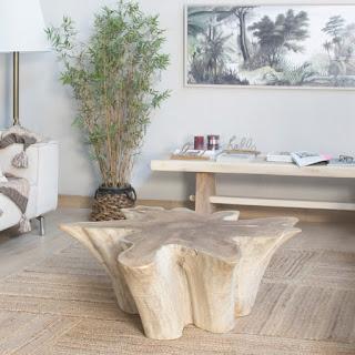 tronco para mesa en acacia