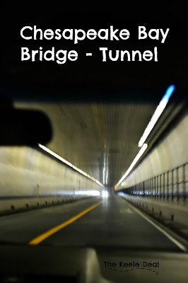 The Chesapeake Bay Bridge - Tunnel connects the Eastern Shore to Virginia Beach, VA. From the Eastern Shore to the Shore of Virginia Beach the Bridge - Tunnel is 17.6 miles long, it has 2 1-mile long tunnels and 4 man made islands.