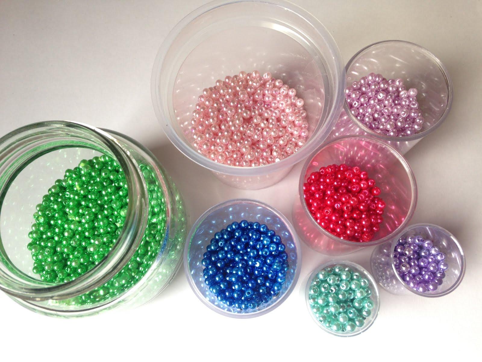 Como Teñir Perlas y Reciclar Marcos de Fotos ~ Disfruta Creando