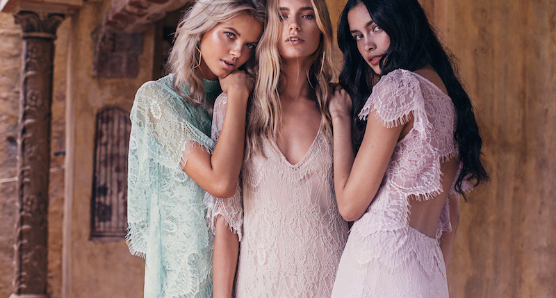 la nouvelle belle: maya, merethe and zoe by louise smit for grace loves lace bridesmaid campaign!
