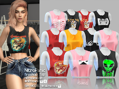 Brochop Top for The Sims 4