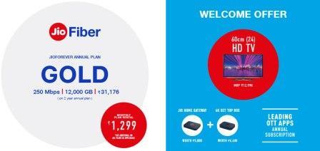 jio fiber plans gold