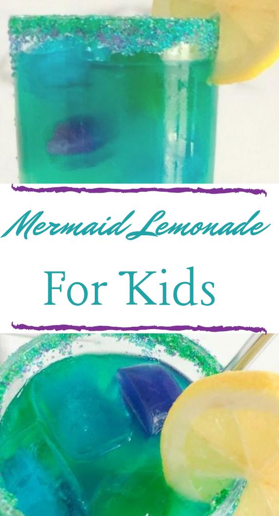 MERMAID LEMONADE #drink #lemonade #mermaid #cocktail #sangria