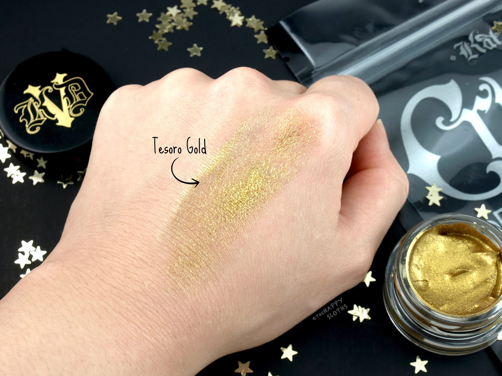 "Kat Von D | Glitter Gel for Face & Body in ""Tesoro Gold"": Review and Swatches"